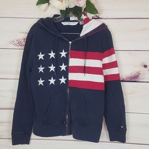 Tommy Hilfiger   Flag Full Zip Up with Hood
